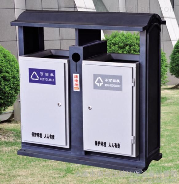 供应优质户外钢板喷塑垃圾桶